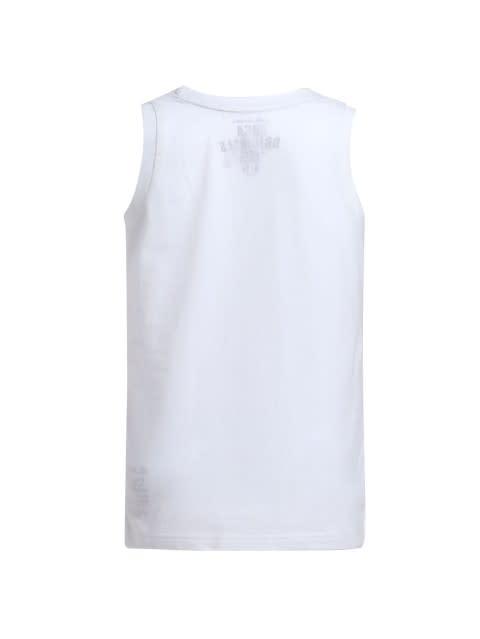 White Printed Tank Top