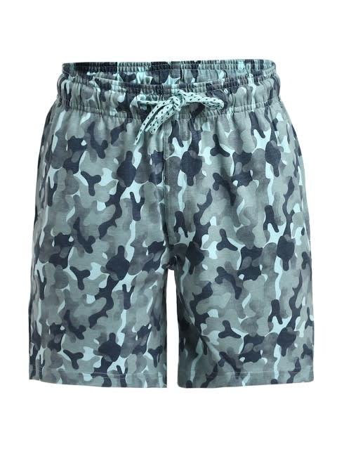 Chalk Blue Camouflage Shorts