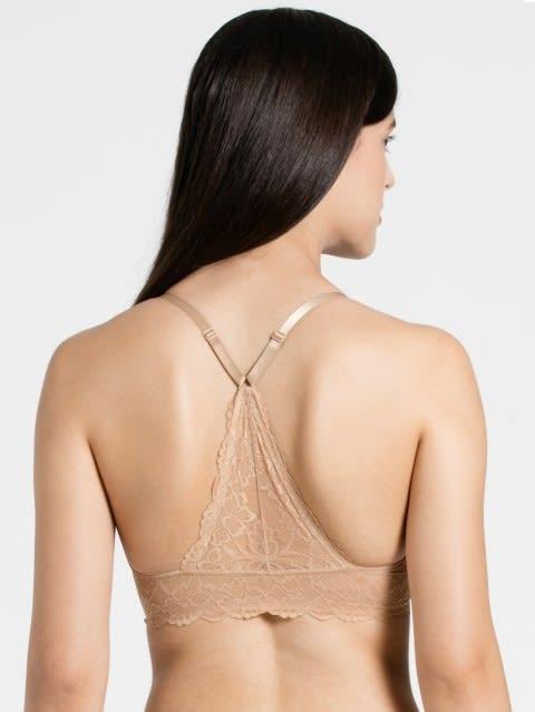 Skin Low neckline front opening bra