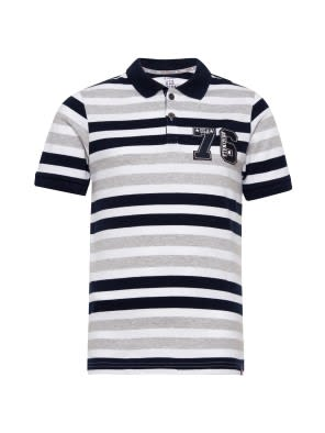 White Stripe01 Boys Polo T-Shirt