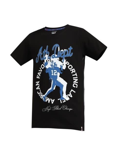 Black Printed Boys T-shirt