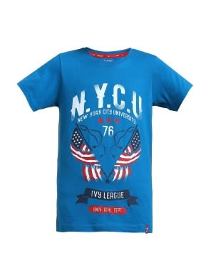 Blue Coral Printed Boys T-shirt