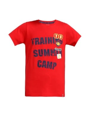 Team Red Printed Boys T-shirt