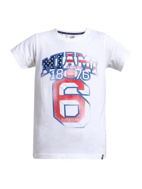 White Printed Boys T-shirt