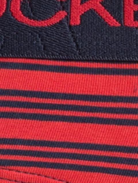 Red & Navy Striped Yarn dyed Brief