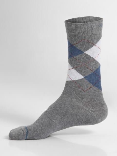 Mid Grey Melange Men Calf Length Socks