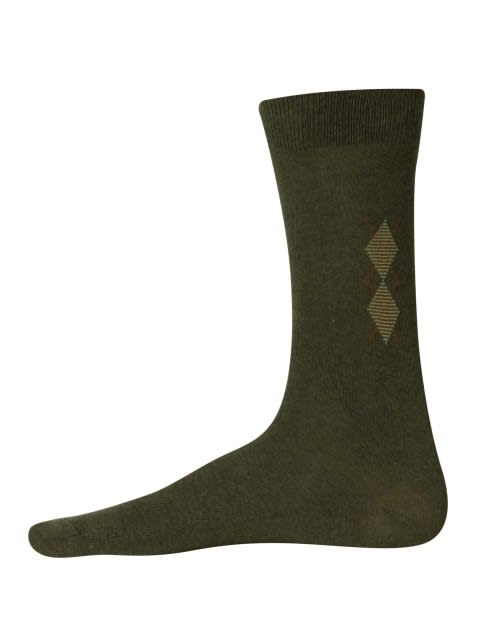 Green Melange Mens Casual Socks