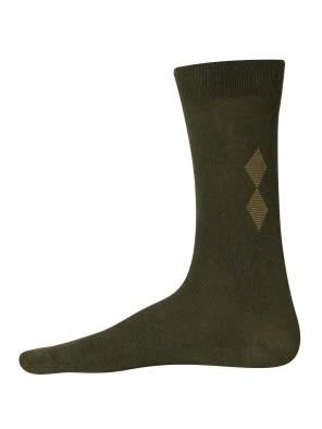 Green Melange Mens Casual Socks