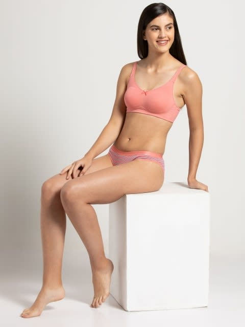 Peach Blossom Moulded Cup Firm support Bra