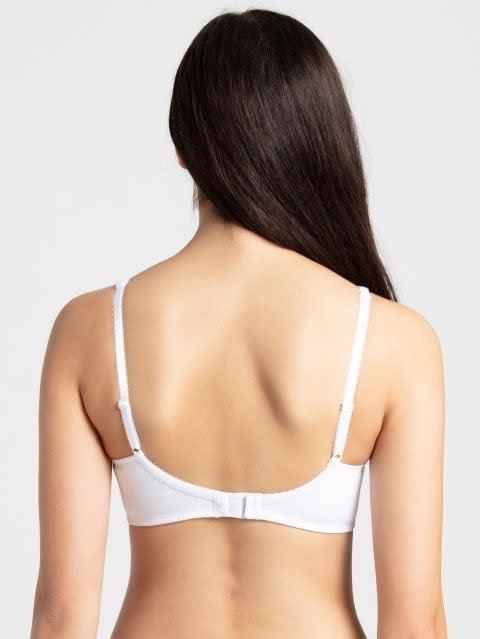 White Moulded Cup Firm support Bra