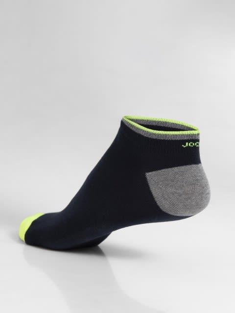 Navy & Assorted Neon Colors Men Low Show Socks