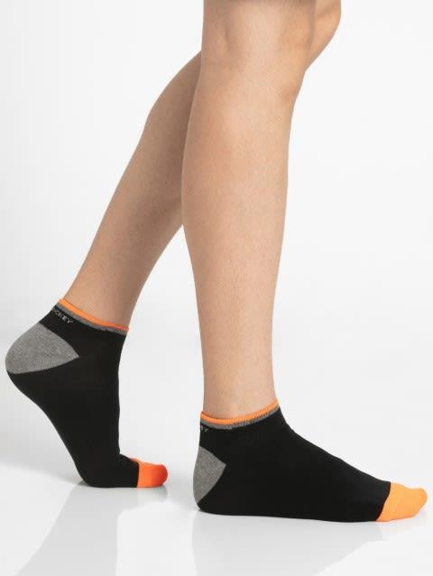 Black & Assorted Neon Colors Men Low Show Socks