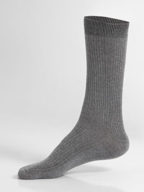 Mid Grey Melange Men Casual Socks