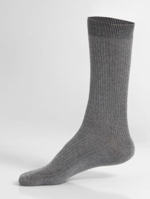 Mid Grey Melange Men Casual Socks