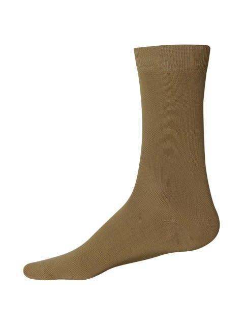 Ochre Brown Men Formal Socks