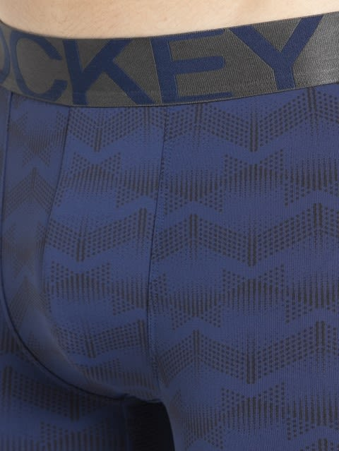 Rich Royal Blue Printed Trunk