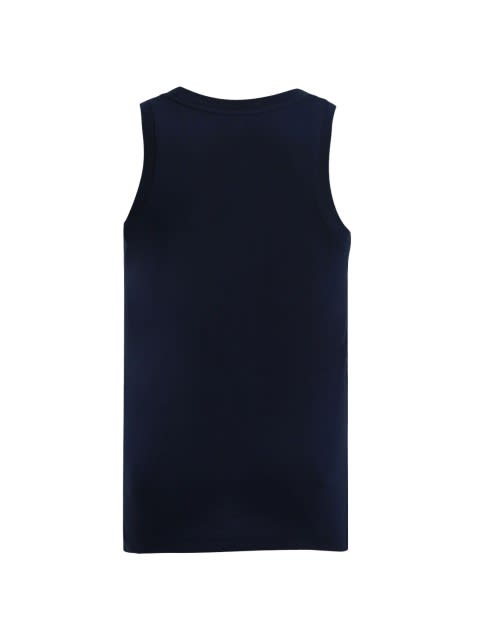 Navy Printed Tank Top