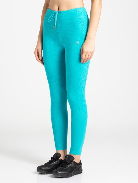 J Teal Printed Yoga Pant