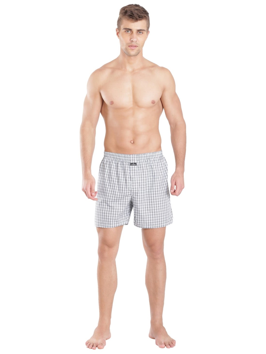28e51742c44602 Jockey Men Outerwear Bottoms | Light Assorted Checks Boxer Shorts