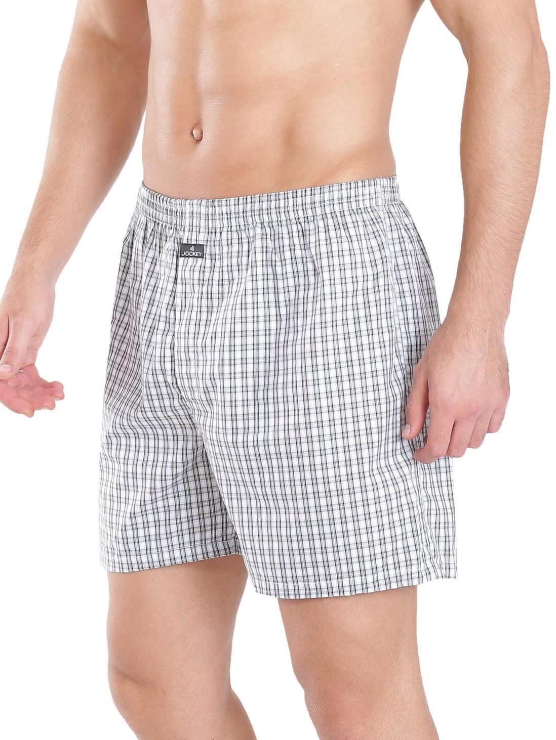 Jockey Men Outerwear Bottoms Light Assorted Checks Boxer Shorts