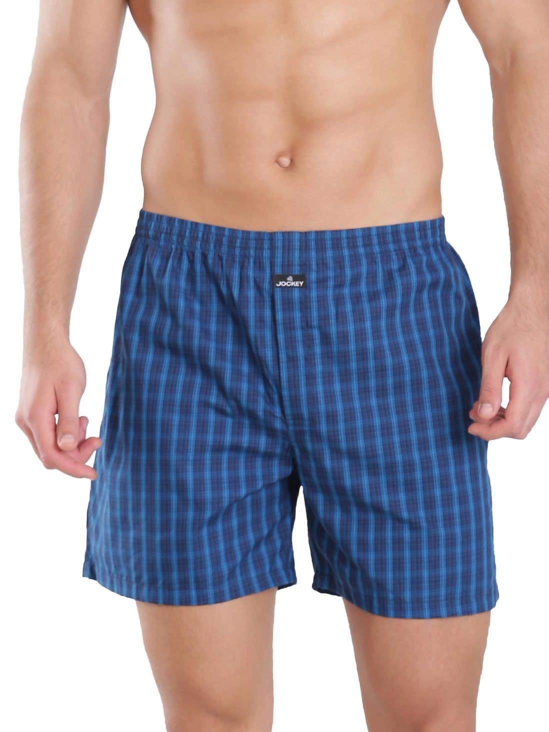 Jockey Men Outerwear Bottoms Dark Assorted Checks Boxer Shorts