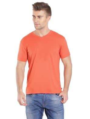 98c4cc05356 Orange Rust V-Neck T-shirt