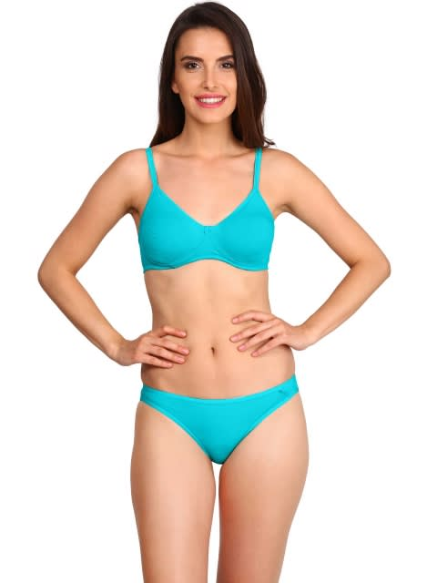 73499fc2b8 Jockey Women Bras | Teal Seamless Shaper Bra