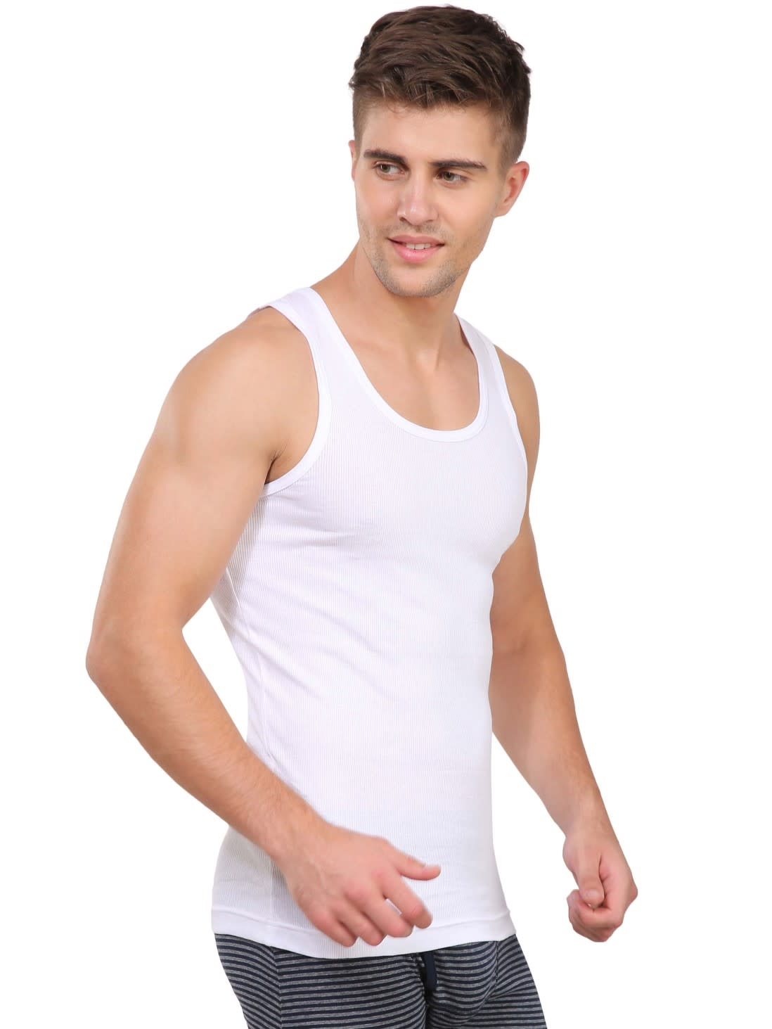 478035ec Jockey Men Innerwear Tops | White Modern Undershirt Pack of 2