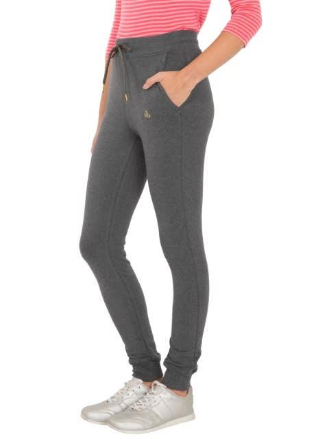 Charcoal Melange Cuffed Track Pant