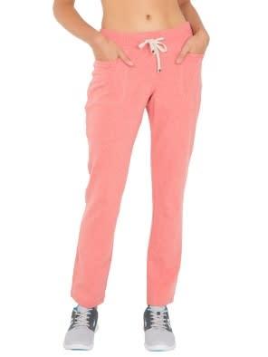 Passion Red Melange Slim Fit Long Pant