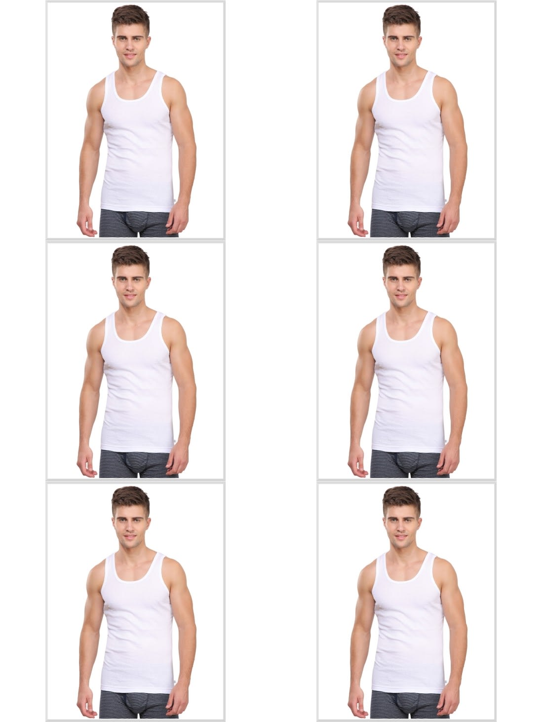Jockey Men Innerwear Tops Jockey Modern Undershirt Combo Pack Of 6
